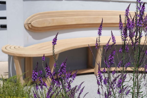 Curved Bench for The Cove